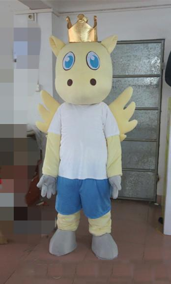 2019 High quality adult size wearing the crown of the cow mascot costume