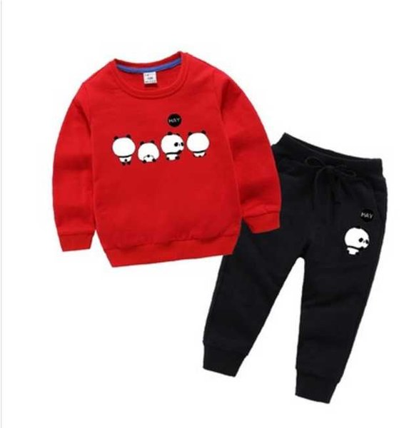 2020 New classic Luxury Designer Baby t-shirt jacket Pants Two-piec 2-9 years olde Suit Kids fashion Children's 2pcs Cotton Clothing Sets