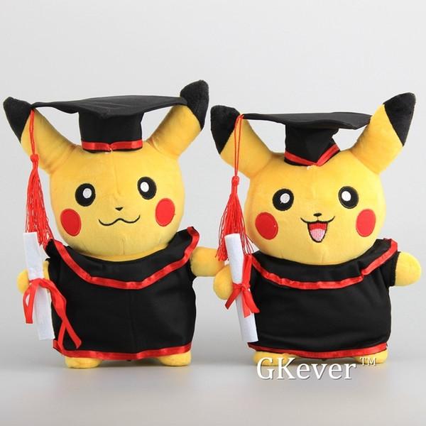 NEUE Pikachu mit Absolvent Kleidung Cosplay Gefüllte Puppen Nette Rilakkuma Absolvent Geschenk Plüschtiere 11