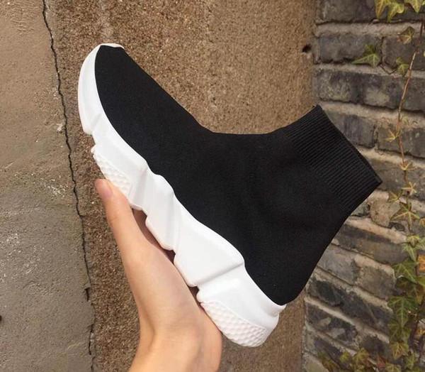 Nom Marque de haute qualité unisexe chaussures de sport plates chaussettes de mode bottes femme nouveau slip en tissu élastique formateur vitesse coureur homme chaussures à l'extérieur