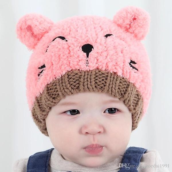 Puseky Winter Bear Ear Kids Baby Hats Lovely Infant Toddler Girl Boy Beanie Cap Warm Baby Hat Earflap