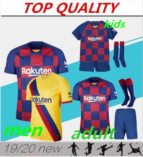 19 20 camiseta de fútbol Barcelona 2019 2020 HOME Y AWAY #17 GRIEZMANN #21 F.DE JONG Hombre y niños jersey barcelona camiseta de fútbol messi maillot de foot kids jersey