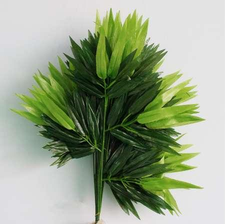 12 Branches Green Artificial Bamboo Leaves Silk Cloth Artificial Plants for Wedding Decoration Home Office Decorative Leaves