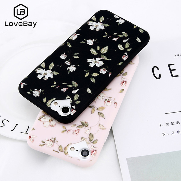 Lovebay Phone Case For Apple iPhone 6 6s 7 8 Plus X XR XS Max 5 5s SE Fashion Beautiful Flower Soft TPU For iPhone X Phone Case