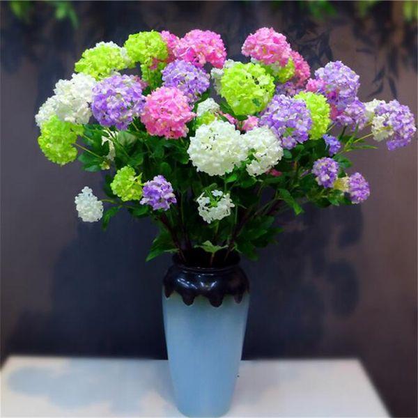 "Artificial Hydrangea Flower Silk Hydrangea Tree Branches 4 heads 34.25"" for Wedding Centerpieces Part Floral Arrangement"
