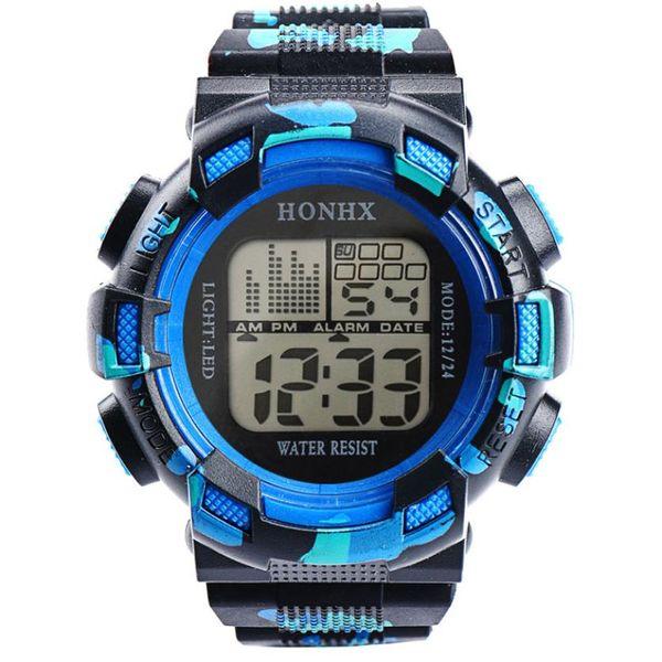 Erkekler Saatler Megir Dijital Su Geçirmez LED Spor Dur İzle Reloj Moda 2018 Lüks Üst Marka Bilezik Saatler Bilek 18Jul17