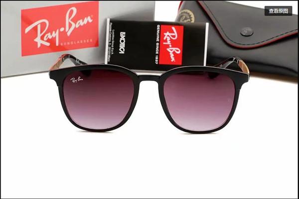 2015 Glass Lens Marchi occhiali da sole donne degli uomini del metallo di alta qualità Struttura Tendenze Eyewear vintage piatto 10 dello specchio di colore Casi UV400 pilota