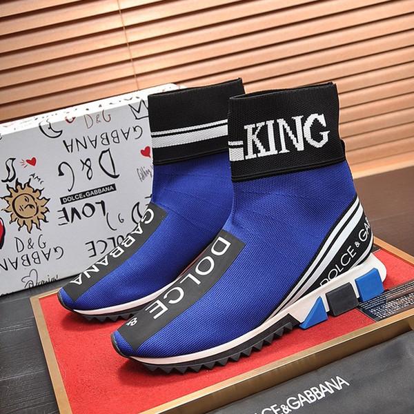 Casual Mens Shoes Herren Sportschuhe Outdoor Vintage Andar a pé Footwears High Top Sorrento Sneakers Em estiramento de malha Moda Deslizamento-Em Homens Botas