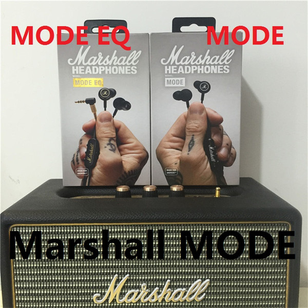 Best selling Marshall Mode EQ In Ear Earphones drive-by-wire With Mic Headphone HiFi rock bass ergonomic earplugs monitor headset black gold