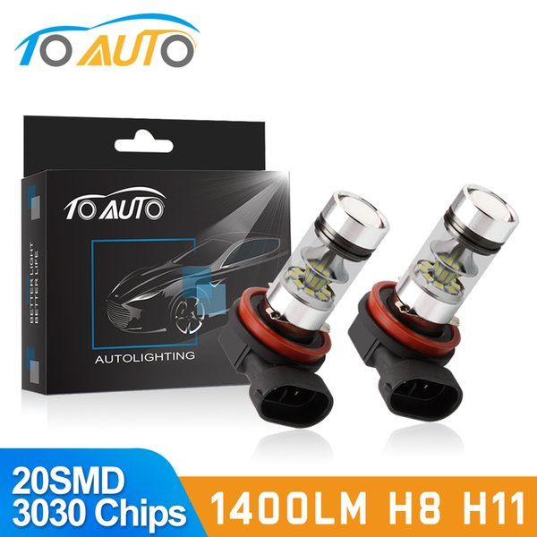 2pcs H11 H8 LED Fog Light Bulbs 9005 HB3 HB4 9006 Car LED Running Lights Auto Driving Lamp 12V 6000K White