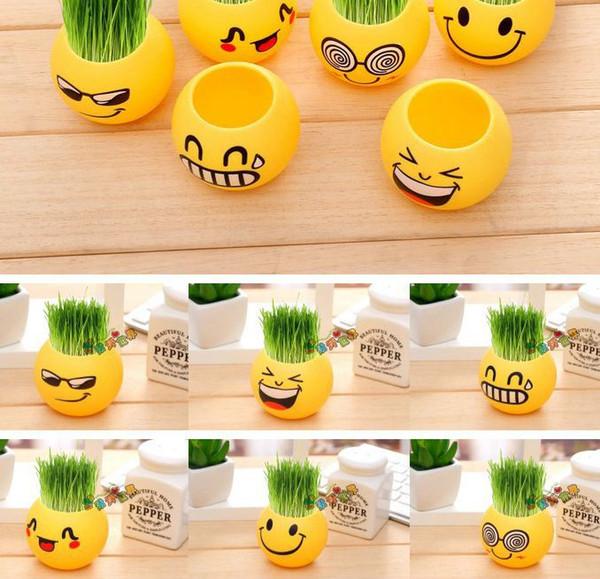 Mini-pot Succulent Planteur bureau Flowerpot jardin Décor vide Emoji Expression fleur plante Planters KKA7604