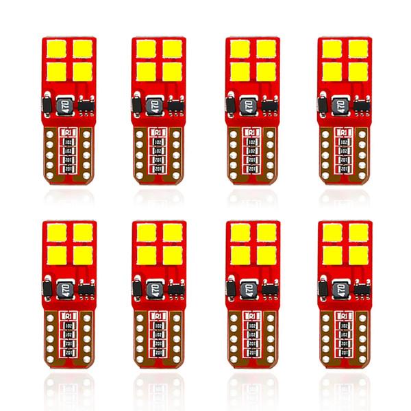 100pcs LED W5W T10 194868 CANBUS 3030SMD 8Led Position De Stationnement De Voiture Ampoule Auto Cale Clearance Lampe Blanc Licence Lumière En Gros