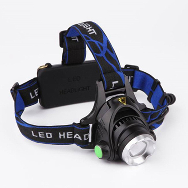 Led Headlamp XM-L T6 Zoom Rechargeable light Waterproof Headlight Flashlight Lantern Night Fishing Camping Light ZZA751