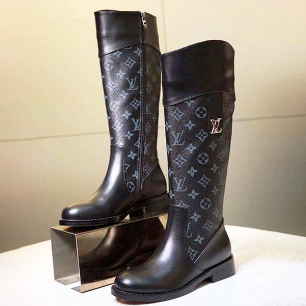 Women Boots Zipper Knee High Platform Ladies Shoes Plus Size 42 Bottes Femmes Chaussures de femme High Top Womens Shoes Fashion Boot W21