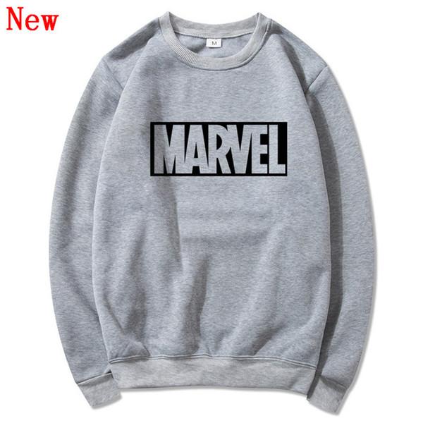 Livraison gratuite Nouvelle Marque Marvel hommes Hoodies Impression Pull qualité coton Casual hommes O cou merveille Sweatshirts hommes QJ13