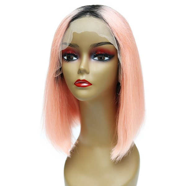 Lace Frontal Human Hair Wigs For Women Virgin Hair Straight Lace Front Wigs With Baby Hair Full End