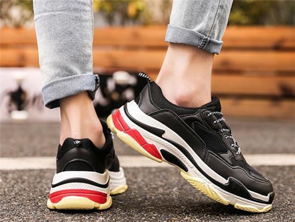 Novas barata 2019 Chegada da sapatilha Combinação Plataforma Womens Mens Soles sapatos de alta qualidade Sports Casual Hip Hop camurça Sneakers A14