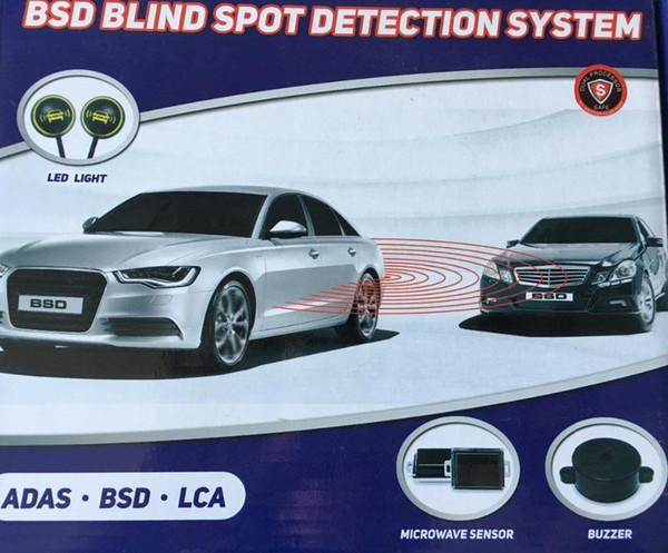 Car Blind Spot Detection veicolo BSD a microonde del radar di allarme del sensore Track System Spia Buzzer guida sicura auto rivelatore