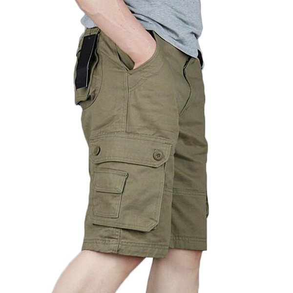 Cargo Shorts Men Summer Casual Pocket Shorts Masculino Men Joggers Overall Military Short Trousers Plus Size 29-46 Sweatpants Y190508