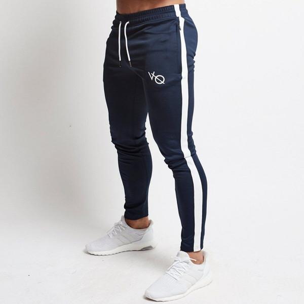 Erkek Joggers Rahat Pantolon Spor Erkek Spor Eşofman Altları Sıska Sweatpants Pantolon Siyah Spor Salonları Jogging Yapan Parça Pantolon