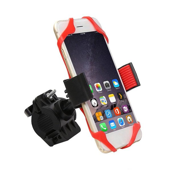 Bike Mount Bicycle Motorcycle Handlebar Cradle Universal Phone Holder with Silicone Band 360 Degree Rotation for iPhone Samsung XIAOMI GPS