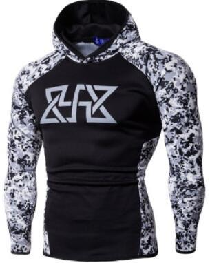19SS Mens Gym Fitness Designer Hoodies Sports Camouflage Hooded Athletic Sweatshirts Casual Tops