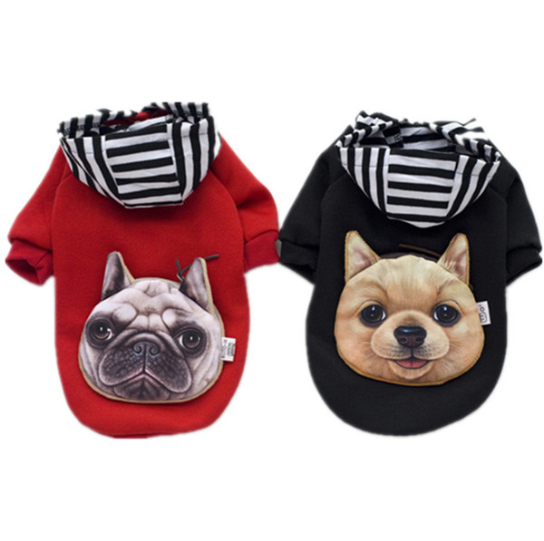 Winter Dog Clothes Pet Clothes Small Dogs Hoodie Coat Chihuahua Dog Jumpers Sweaters