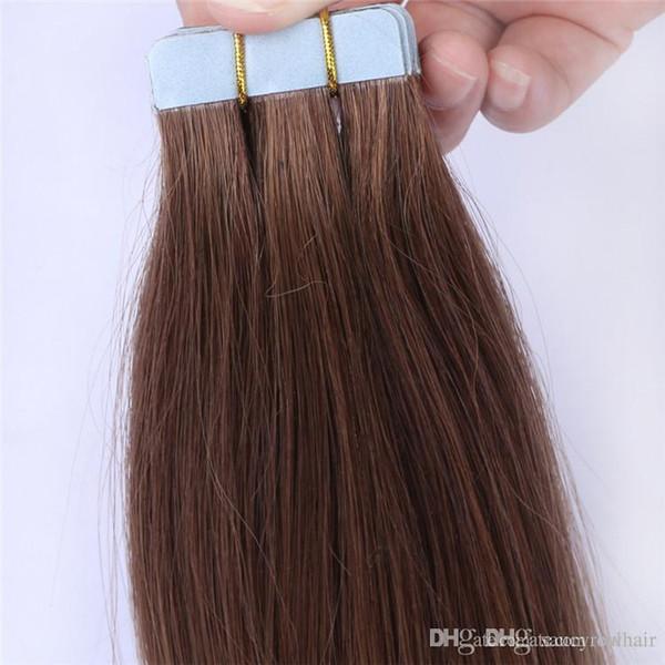 Nouvelle arrivée 14 pouces à 26 pouces Remy Pu Tape dans les extensions de cheveux humains, peau trame cheveux avec 2.5g pièce 80pcs Lot, livraison gratuite