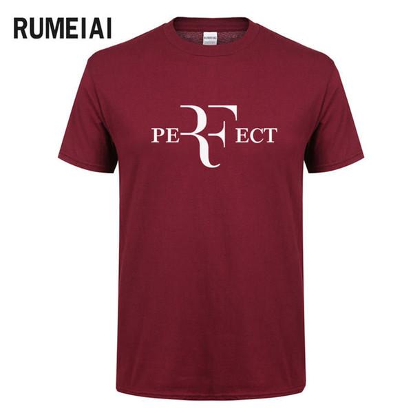 Yaz Erkekler Moda RF Mükemmel Harfler Tasarım T gömlek Roger Federer Kısa Kollu T-Shirt O-Boyun Streetwear Tees HipHop Tops SN3
