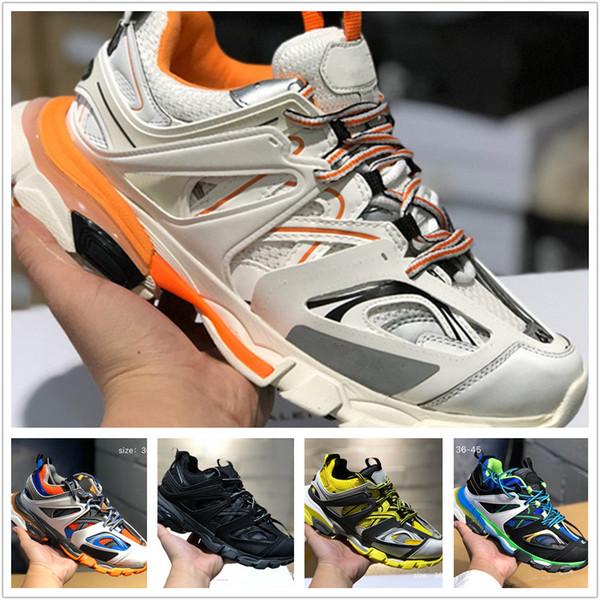 rilasciare 3 donne Tess Gomma Maille Scarpe casual nera per gli uomini Triple S Clunky Sneaker Sneaker pista più calda autentica Designer Shoes S01