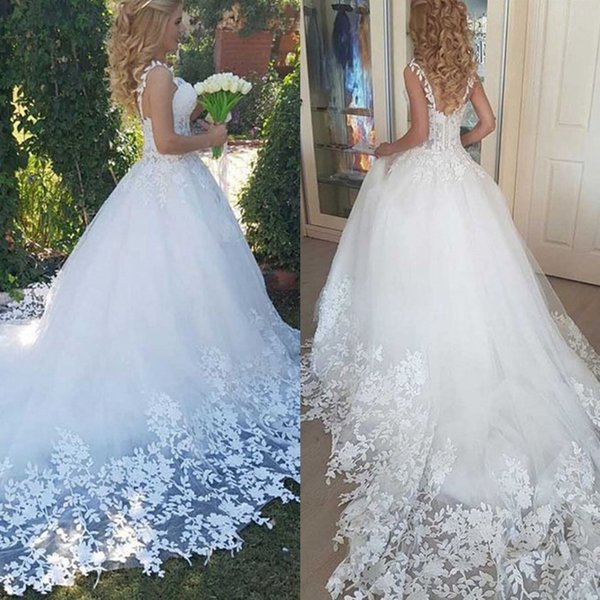 Sexy 2020 Robe de soiree Sheer Lace Wedding Dresses Sweetheart A Line Bridal Dress With Train Country Boho Plus Size Wedding Gowns New
