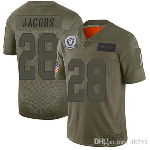 Mens Josh Jacobs Derek Carr Bo Jackson Darren Waller Hunter Jersey Renfrow Maxx Crosby Howie Long precipitación del color Deportes camisetas de fútbol hombre