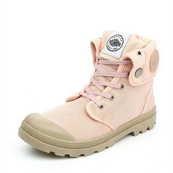 Large size canvas shoes for women Cuffed platform fashion boots 2019 New Fashion 5 Colors Women's Canvas Boots pink black X75