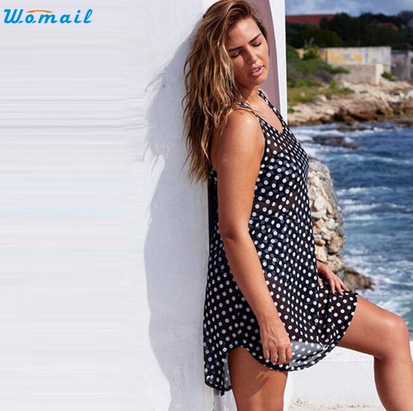 Custom Pattern Swimsuit Cover Up Beach Wear Dress Bikini Top Coverup for Women