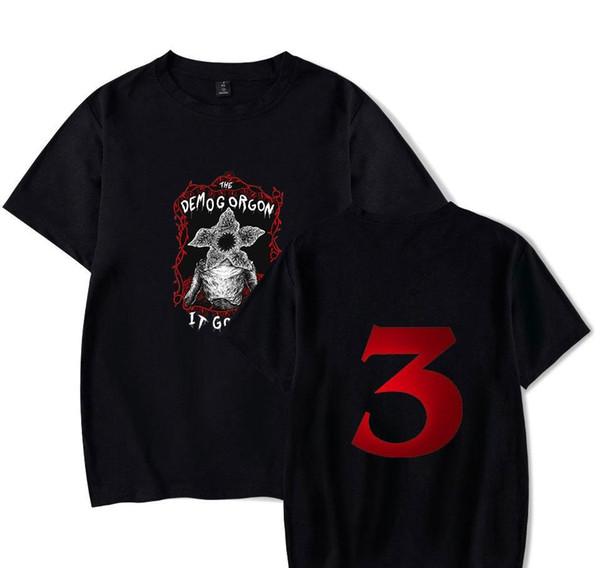 POP Stranger Things T-shirt Eleven Dustin Stranger Things 3 Hommes T-shirt d'été à manches courtes T-shirt drôle Demogorgon Hauts pour hommes