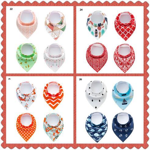 Try Me Baby Bibs Burp Cloth Infant Waterproof Bib Saliva Towels Kids Cotton Printed Head Scarf