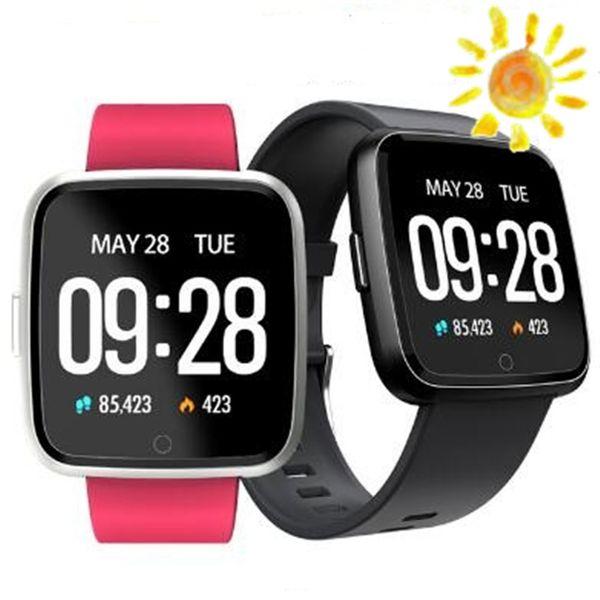 Силикон или Meta Y7 Смарт Фитнес браслет металла Ми группа 3 ID115 Plus крови кислородом под давлением Спорт Tracker Часы Heart Rate Monitor Wristband