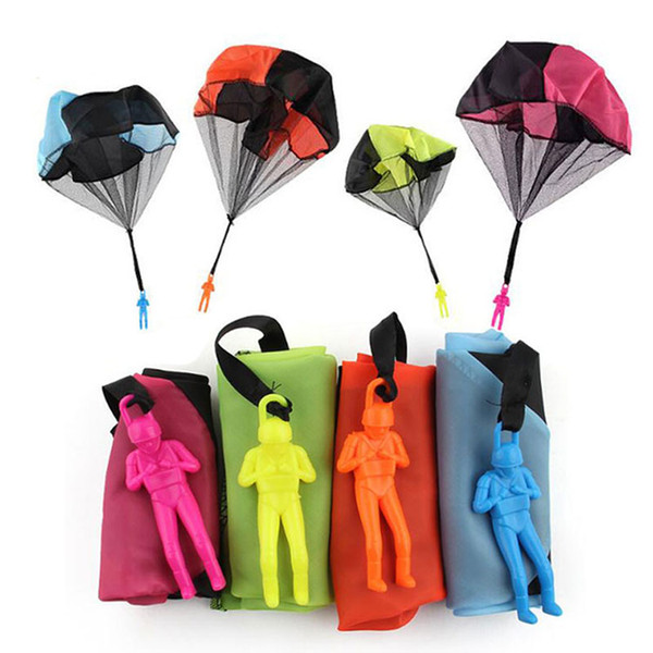top popular Hand Throwing Mini Play Soldier Parachute Toys For Kids Outdoor Fun Sports Children's Educational Parachute Game 2020
