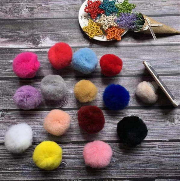 Fuzzy Autumn and winter models explosion hair ball balloon bracket multi-color optional Multi-function airbag bracket with retail box