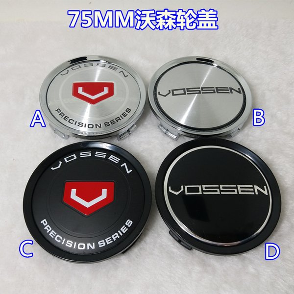 New Car-styling 4pcs/lot forVOSSEN Wheel Hub Center Cover,VOSSEN Wheel cover ,VOSSEN Wheel Center Hup Caps Outer Diameter 75MM,VOS