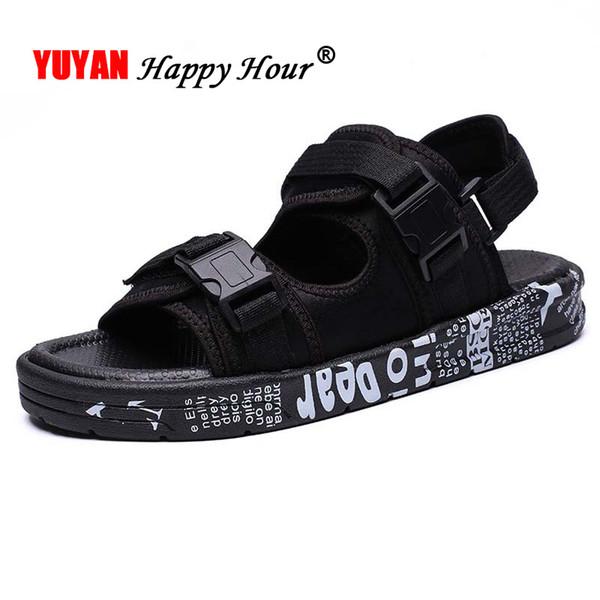 Acheter 2019 Chaussures D'été Hommes Sandales De Plage Semelle Épaisse Chaussures Casual Hommes Sandales Mode Antiglisse Été KA1324 Homme De $25.04 Du