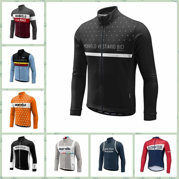 2019 Morvelo team Cycling long Sleeves jersey Anti-UV Comfortable High quality Style Cheap custom made New Arrive Hot W30819