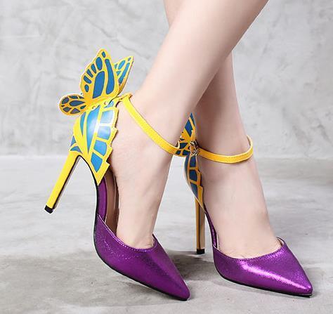 фиолетовый с лодыжки ремешками
