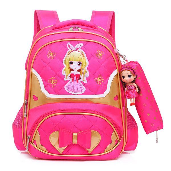 Çocuk prenses sırt çantaları çocuk okul çantaları kızlar ilköğretim okulu sırt çantaları çocuklar ortopedik okul çantaları kesesi enfant