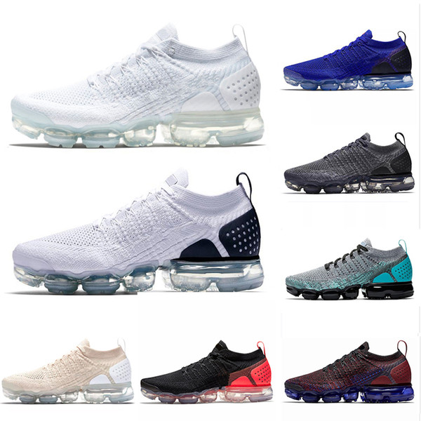 the latest 0c5d5 e5356 AirVapormax2.0 Running Shoes For Men Women Designer Triple Black White  Light Cream Oreo Blue Dusty Cactus Mens Trainers Sneakers Skechers Running  ...