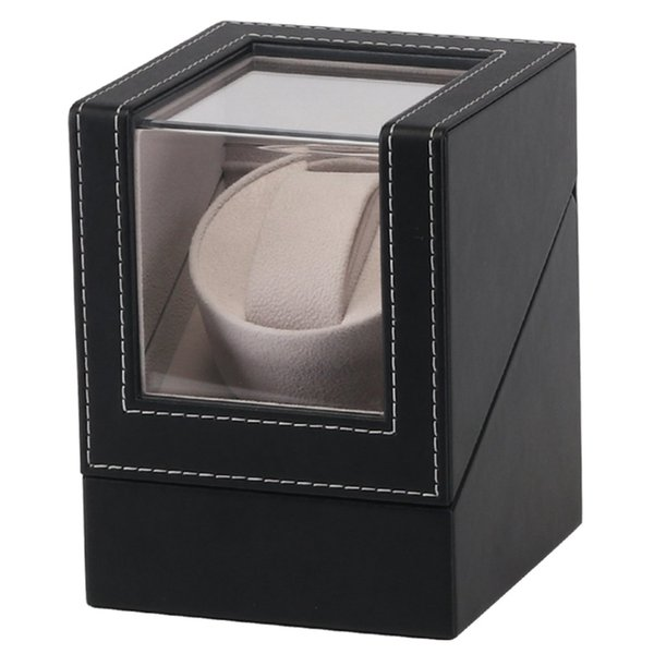 купить оптом топ кожаные часы Box моталки смотреть мотор шейкер корпус часов дисплей держатель автоматические механические часы заводная коробка