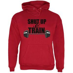 Shut Up amp Train Red Adult Hoodie