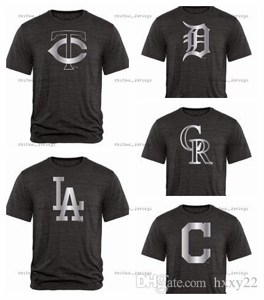 Twins Minnesota Dodgers L.A. Tigers Detroit Rockies Colorado Indians Cleveland Fanatics Apparel Platinum Collection Tri-Blend T-Shirt