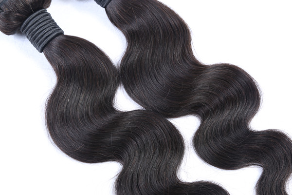 Best-Selling Black Color Peruvian Body Wave Hair Weave Bundles 100% Human Hair Extensions 10-30 Inchs Unprcessed Double Weft Hair Extension