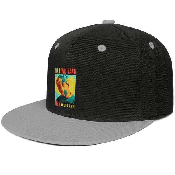 Wu Tang Clan RZA Duotone Design Hip-Hop Caps Snapback Flat Brim Dad Hats Stylish Adjustable
